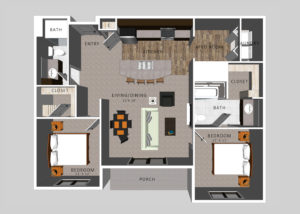 The Mickelson | HiPark Apartments